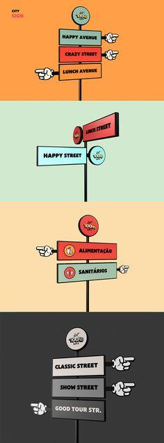 Lost Toon's City - Theme Park Branding by Carlos Teles, via Behance