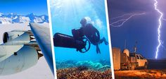Chasing deadly storms, studying the Great Barrier Reef, monitoring Earth from the sky.