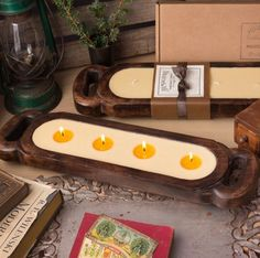 Wooden Candle Tray 2