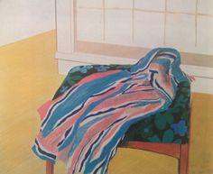 confront: David Hockney, Chair and Shirt, 1972 via primary-yellow David Hockney Artwork, James Rosenquist, Pop Art Movement, Robert Rauschenberg, Edward Hopper, Art Graphique, 2d Art, Tumblr, Contemporary Paintings