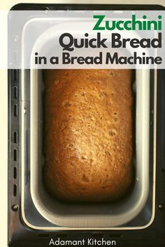 Zucchini Bread Recipe For Bread Machine, Bread Machine Recipes Healthy, Carrot Cake Bread, Gluten Free Zucchini Bread, Bread Maker Recipes, Zucchini Bread Recipes, Quick Bread Recipes, Vegan Bread, Bread Machine Mixes