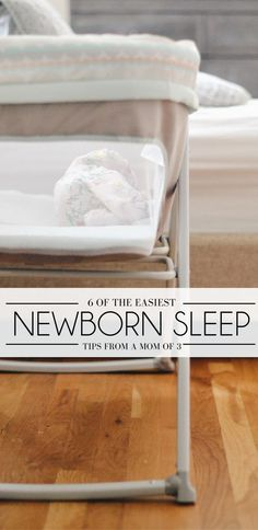 newborn sleep tips from a mom of three - help your new baby sleep through the night {spon}