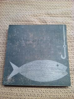 Distressed Vintage Handmade Fishing Sign