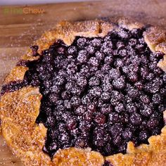 Rustic Blueberry Tart by Carla Hall! #TheChew
