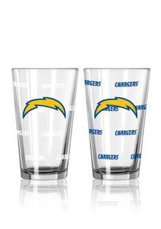 Boelter  16-oz. NFL Chargers 2-Pack Color Change Pint Glass Set