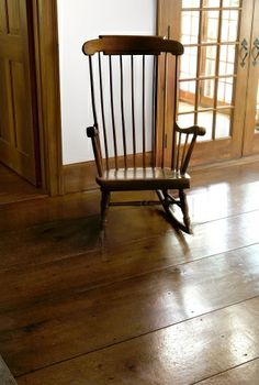 Rocking Chair Eastern White Pine | Carlisle Wide Plank Flooring  with sturbridge brown historic stain