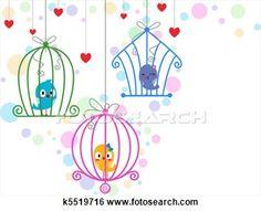 Arquivos de Ilustração - lovebirds, em, gaiolas. Fotosearch - Busca de Imagens Clip Art, Desenhos, Impressões de Artes Finas, Illustrações e...