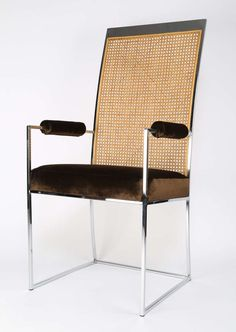 Milo Baughman Cane-Back Dining Chairs