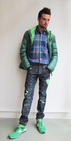 #wilcolook #moda #hombre #plumifero #blauer camisa #elganso pantalon #onegreenelephant zapatillas #newbalance http://www.miinto.es/shops/b-1040-wilco