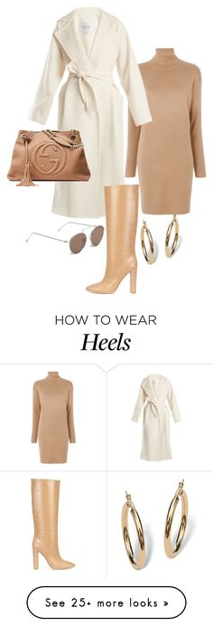 """Untitled #22947"" by florencia95 on Polyvore featuring MICHAEL Michael Kors, MaxMara, Gucci, Gianvito Rossi, Illesteva and Palm Beach Jewelry"