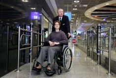 Wheelchair assistance at Frankfurt airport