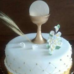 Torta dorada primera comunión