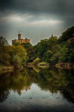 Warkworth Castle on the River Coquet, Northumberland