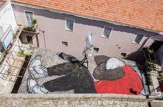 Ella & Pitr create a brand new rooftop piece in Gaeta for Memorie Urbane