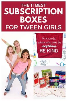 Tween girl subscription boxes are so much fun! Need a fun gift for a tween girl? Choose a subscription box! The best subscription boxes for tweens are here! Tween Girl Gifts, Tween Girls, Gifts For Teens, Subscription Boxes For Tweens, Teen Boxing, Monthly Crates, Mom Advice, Craft Activities For Kids, Play Therapy