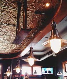The Barley Vine Rail Co; Restaurant Design, Ontario, Track Lighting, Light Bulb, Restaurants, Ceiling Lights, Rustic, Food, Home Decor