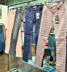 (4) Womens Embossed Print Effect & Digital Printed Fabric Pattern Jeans - Mavi Top Picks 2013 Spring to Fall from Project Las Vegas