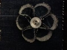 My very first denim flower :)