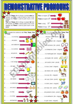 A nice worksheet that teachers can use to teach your students about Demonstrative Pronouns . have a good class! Essay Writing Skills, English Writing Skills, Pre K Math Worksheets, Demonstrative Pronouns, Creative Writing Ideas, English Lessons For Kids, English Language Learning, Teaching, Healthy Habits