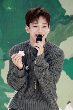April, and a flower Baekhyun, Park Chanyeol, Kai, Kim Jong Dae, Exo Concert, Xiuchen, Kim Minseok, Kpop Exo, Exo Members