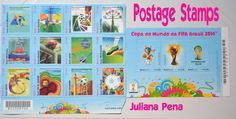 Postage Stamps World Cup FIFA  Brasil 2014