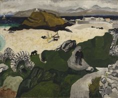 """""""Porthmeor Beach, on Canvas by Christopher Wood St Ives, Cornwall. Died beneath a train in Salisbury. Georges Braque, Hyogo, Chichester, Henri Matisse, Landscape Art, Landscape Paintings, Landscapes, Seascape Paintings, Guinness"""