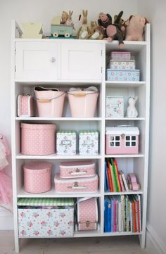 I want the boxes and the pink buckets