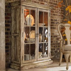 Wakefield Two-Door Display Cabinet with Wood-Framed Glass Shelves by Hooker Furniture - Alison Craig Home Furnishings - Curio Cabinet Naples, Fort Myers, Pelican Bay, Pine Ridge, Bonita Spring, Golden Gate, Estero, Cape Coral, Marco Island, Sanibel/Captiva Island, Point Charlotte, Ave Maria, Florida