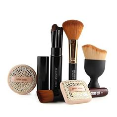 Coshine Contouring Kabuki Makeup Brush Set With Latex Free Sponge Set >>> Click on the image for additional details. (Note:Amazon affiliate link)