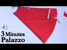 Palazzo Cutting and Stitching Very Simple in 3 Minutes Sleeves Designs For Dresses, Dress Neck Designs, Blouse Designs, Girls Dresses Sewing, Dress Sewing Patterns, Plazzo Pants, Salwar Pattern, Stitching Dresses, Sewing Pants