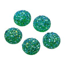 Check out 20 Resin Dome Seals Cabochon Round Green Glitter 12mm, 9020, 305a on vickysjewelrysupply