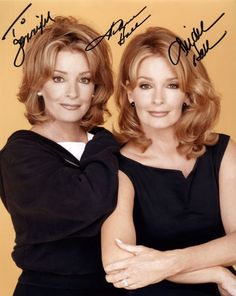 Deidra and Andrea Hall sisters. The one on the right plays Marlena on Days of Our Lives.