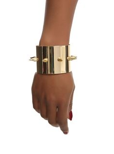 DC Comics Suicide Squad Harley Quinn Gold Spiked Cuff Set,