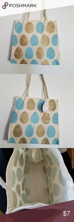 "tote bag 10"" x 10"" Easter eggs tote bag none Bags Totes"