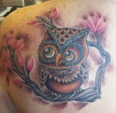 My owl tattoo...love it!!!