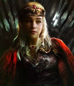 Queen Daenerys: Stunningly Beautiful Portrait Illustration of Dany by mehdic Recommended: A Game of Thrones: The Illustrated Edition Book One