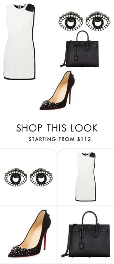 """""""208"""" by phamthuquynh on Polyvore featuring Kenzo, Ted Baker, Christian Louboutin and Yves Saint Laurent"""
