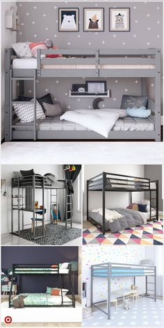 Bunk Beds For Girls Room, Bunk Bed Rooms, Small Room Bedroom, Kid Beds, Girls Bedroom, Bunk Bed Ideas For Small Rooms, Loft Beds, Bedrooms, Bunk Bed Designs