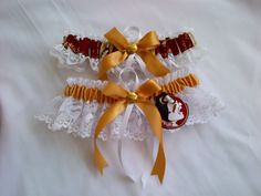 Wedding Garters Florida State Seminoles fabric garter any size, color or style.. $19.99, via Etsy.