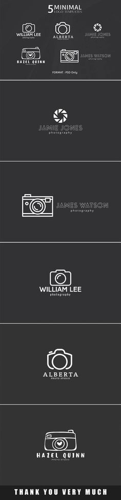 A great new collection of fresh mousemade minimal photography logos! Now you can get 5 minimal logo templates for absolutely free. via @creativetacos