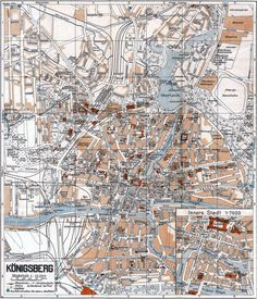 Grieben-Stadtplan von Königsberg aus dem Jahr 1941 mit den Umbenennungen, die von den Nationalsozialisten vorgenommen worden sind. Aus der Sammlung von André Gebler, Dresden.