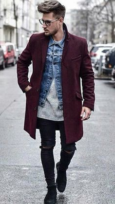 Gents Fashion, Fashion 101, Vogue Fashion, Peacoat Outfit, Trench Coat Outfit, Chelsea Boots Outfit, Mens Overcoat, Winter Outfits Men, Elegant Man
