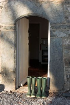 Wellies by the Door, Plas Uchaf, Denbighshire
