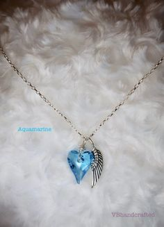 Heart Angel Wing Necklace, Boho Angel Wing Necklace, Religious Necklace, Gifts for Women, Charm Necklace, Sterling Silver Heart Necklace Angel Wing Necklace, Boho Necklace, Turquoise Necklace, Arrow Necklace, Necklaces, Pendant Necklace, Amethyst Crystal, Crystal Pendant, Tanzanite Necklace