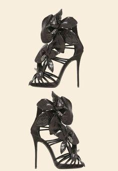 Giuseppe Zanotti Black Python Sandal SS 2015