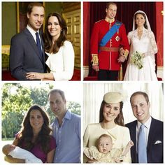 The Duke & Duchess of Cambridge's marriage in four official photos, including #PrinceGeorge RT @Jordon-Lee Squibb