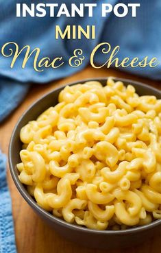Instant Pot Mini Mac and Cheese is a creamy delicious mac and cheese made in your 3 quart Mini electric pressure cooker. Makes 3.5 cups. simplyhappyfoodie #instantpotminirecipes #instantpotrecipes #instantpot3quart #instantpotmacandcheese