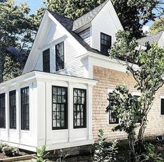 "1,122 Likes, 12 Comments - Niña & Cecilia (@ninaandcecilia) on Instagram: ""Cedar shakes, white exterior, and black windows  .  @raenovate"""