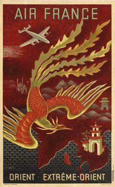 vintage air france poster