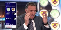 Reakcja Alana McInally'iego po golu Marcosa Tavaresa • 4 runda eliminacji Ligi Mistrzów • Celtic Glasgow vs NK Maribor • Alan McInally >>